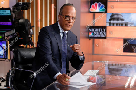 """This photo shows Lester Holt, anchor of """"NBC Nightly News,"""" and host of """"Dateline NBC"""" on the set of his weekday evening news set in New York. Holt spent a couple of nights locked up in Louisiana's notorious Angola prison earlier this year for a """"Dateline NBC"""" episode about criminal justice reform. The episode airs Friday night on NBC"""