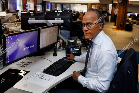 """This photo shows Lester Holt, anchor of """"NBC Nightly News,"""" and host of """"Dateline NBC"""" posing at his news desk in New York. Holt spent a couple of nights locked up in Louisiana's notorious Angola prison earlier this year for a """"Dateline NBC"""" episode about criminal justice reform. The episode airs Friday night on NBC"""