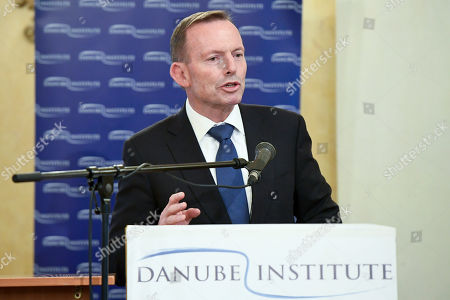 Former Prime Minister of Australia Tony Abbott delivers a lecture entitled 'Immigration: What Europe can learn from Australia' in Petofi Museum of Literature in Budapest, Hungary, 04 September 2019.