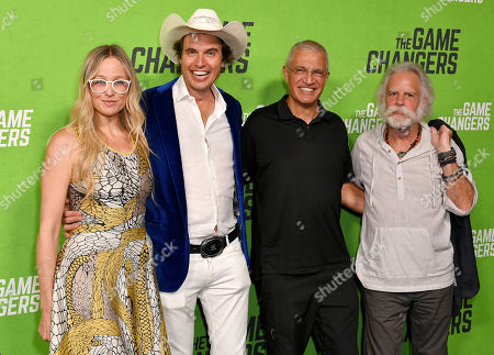 Stock Picture of Christiana Wyly, Kimbal Musk, Louie Psihoyos and Bob Weir