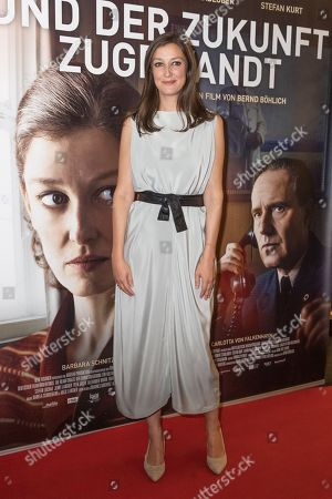 Alexandra Maria Lara poses during a premiere of 'Und der Zukunft zugewandt' (Sealed Lips) at the Kino International in Berlin, Germany, 04 September 2019. The movie is scheduled to open to in German theaters on 05 September.