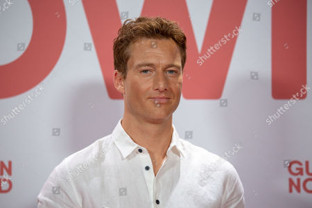 Stock Photo of Alexander Fehling poses for a photo on the red carpet prior to a Family and Friends Preview of 'Gut gegen Nordwind' in Berlin, Germany, 04 September 2019. The movie opens in German theaters on 12 September.