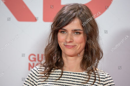 Stock Photo of Nora Tschirner poses for a photo on the red carpet prior to a Family and Friends Preview of 'Gut gegen Nordwind' in Berlin, Germany, 04 September 2019. The movie opens in German theaters on 12 September.