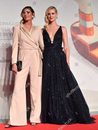 Chiara Ferragni (R) and Italian director Elisa Amoruso (L) arrive for the premiere of 'Chiara Ferragni - Unposted' during the 76th annual Venice International Film Festival, in Venice, Italy, 04 September 2019. The movie is presented in the 'Sconfini' section at the festival running from 28 August to 07 September.