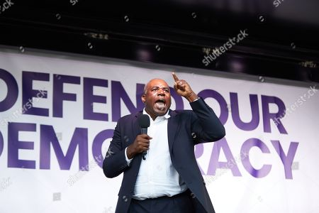 David Lammy speaks passionately to a rally outside Parliament on Wednesday evening, demanding a second referendum.