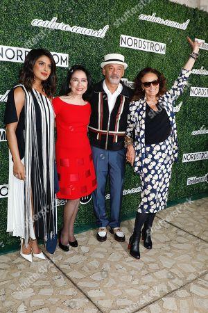 Priyanka Chopra, Dr. Joyce F. Brown, President of the Fashion Institute of Technology, Christian Louboutin and Diane von Furstenberg