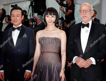 Songwen Zhang with Huang Xiangl and Pascal Greggory