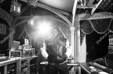 """This photo shows Derek Dixie at NRG Studio in Los Angeles. In true Beyonce Knowles fashion, when Dixie, her music director, learned he earned his first-ever Emmy nomination for his work on the pioneering project, """"HOMECOMING: A Film by Beyonce Knowles, """" he was too busy to celebrate _ because he was focused on producing the superstar's next album"""