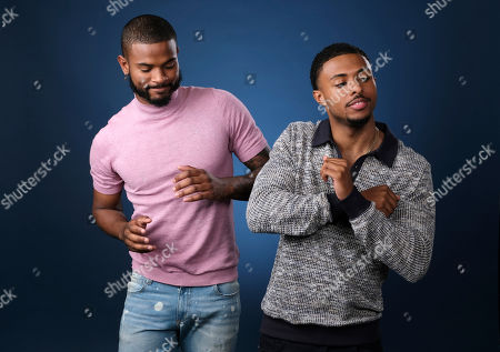 """Trevor Jackson, Diggy Simmons. This photo, Trevor Jackson, left, and Diggy Simmons, cast members in the Freeform series """"grown-ish,"""" pose for a portrait in Burbank, Calif"""