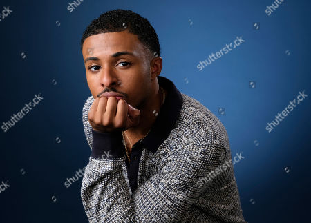 """This photo, Diggy Simmons, cast member in the Freeform series """"grown-ish,"""" pose for a portrait in Burbank, Calif"""