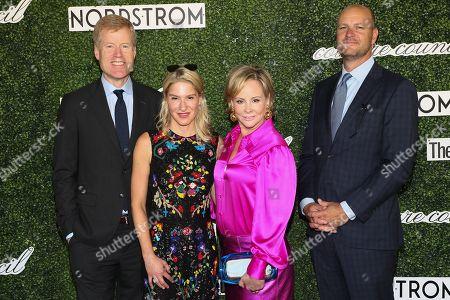Stock Photo of Jamie Nordstrom, Julie Macklowe, guest and Erik Nordstrom