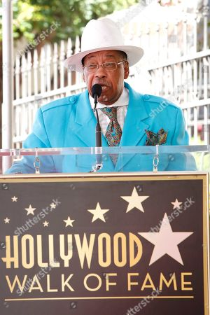 Marshall Thompson at a ceremony honoring US singer Jackie Wilson post humously with the 2672nd star on the Hollywood Walk of Fame in Hollywood, Los Angeles, California, USA, 04 September 2019. The star was dedicated in the category of Recording.