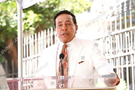 Smokey Robinson at a ceremony honoring US singer Jackie Wilson post humously with the 2672nd star on the Hollywood Walk of Fame in Hollywood, Los Angeles, California, USA, 04 September 2019. The star was dedicated in the category of Recording.