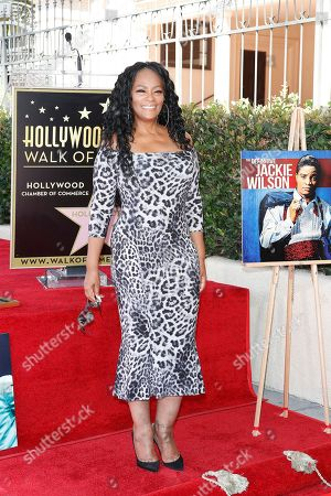 Stock Image of Jody Watley at a ceremony honoring US singer Jackie Wilson post humously with the 2672nd star on the Hollywood Walk of Fame in Hollywood, Los Angeles, California, USA, 04 September 2019. The star was dedicated in the category of Recording.