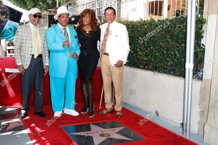 Barry Gordy, Marshall Thompson, Mary Wilson and Smokey Robinson at a ceremony honoring US singer Jackie Wilson post humously with the 2672nd star on the Hollywood Walk of Fame in Hollywood, Los Angeles, California, USA, 04 September 2019. The star was dedicated in the category of Recording.