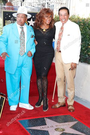 Marshall Thompson, Mary Wilson, Smokey Robinson at a ceremony honoring US singer Jackie Wilson post humously with the 2672nd star on the Hollywood Walk of Fame in Hollywood, Los Angeles, California, USA, 04 September 2019. The star was dedicated in the category of Recording.