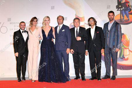 Elisa Amoruso, Chiara Ferragni, the producers Francesco Melzi D?Eril and Paolo Del Brocco
