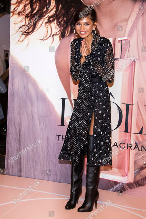 Zendaya Coleman. Zendaya promotes the new fragrance Idole by Lancome at Macy's Herald Square, in New York