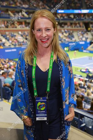 Amy Hargreaves stops by the Heineken suite at the U.S. Open in Flushing, NY, on September 04, 2019.