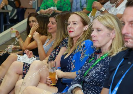 Amy Hargreaves stops by the Heineken suite at the U.S. Open