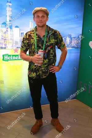Billy Magnussen stops by the Heineken suite at the U.S. Open