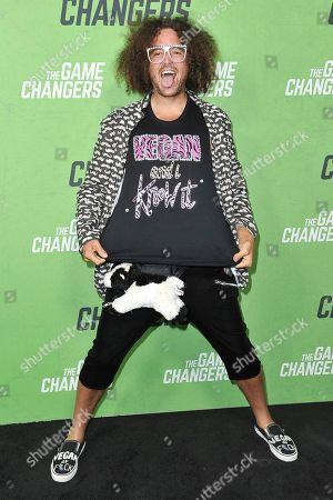 """Redfoo attends the LA premiere of """"The Game Changers"""" at ArcLight Cinemas Hollywood, in Los Angeles"""
