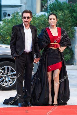 Jean-Michel Jarre and Gong Li