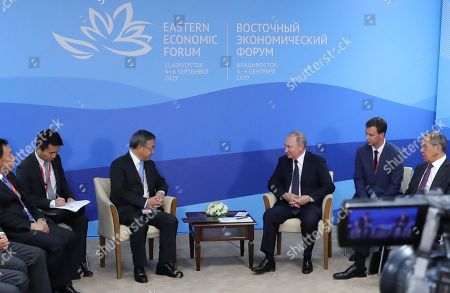 Russian President Vladimir Putin (C-R) and Chinese Vice Premier Hu Chunhua (C-L) meet on the sidelines of the Eastern Economic Forum 2019 Vladivostok, Russia, 05 September 2019. The Eastern Economic Forum 2019 takes place in Vladivostok from 04 to 06 September.