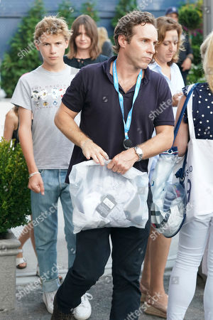 Alessandro Nivola attends the quarterfinals of the U.S. Open tennis championships, in New York