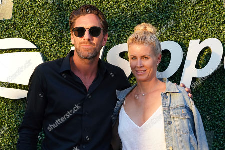 Henrik Lundqvist, Therese Andersson. Henrik Lundqvist and Therese Andersson attend the quarterfinals of the U.S. Open tennis championships, in New York