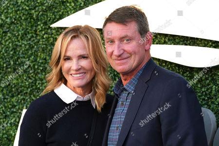 Janet Jones-Gretzky, Wayne Gretzky. Janet Jones-Gretzky and Wayne Gretzky attend the quarterfinals of the U.S. Open tennis championships, in New York