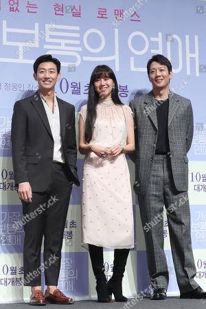 Editorial photo of South Korean movie Crazy Romance's cast at event in Seoul, Korea - 05 Sep 2019
