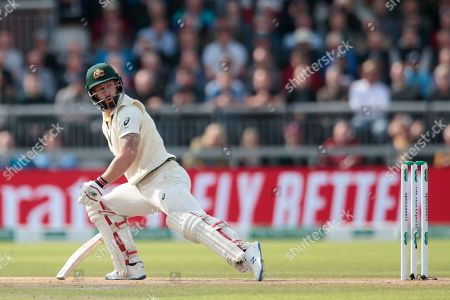 Australia's Matthew Wade reacts after a ball from England's Stuart Broad