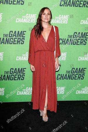 Briana Evigan arrives for the LA Premiere of 'The Game Changers' at ArcLight Hollywood in Los Angeles, California, USA, 04 September 2019. The movie opens in US theaters on 16 September 2019.