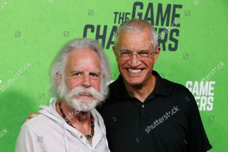 Bob Weir and Louie Psihoyos arrive for the LA Premiere of 'The Game Changers' at ArcLight Hollywood in Los Angeles, California, USA, 04 September 2019. The movie opens in US theaters on 16 September 2019.