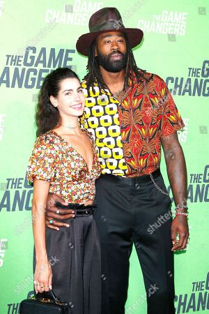 Bethany Gerber and DeAndre Jordan arrive for the LA Premiere of 'The Game Changers' at ArcLight Hollywood in Los Angeles, California, USA, 04 September 2019. The movie opens in US theaters on 16 September 2019.
