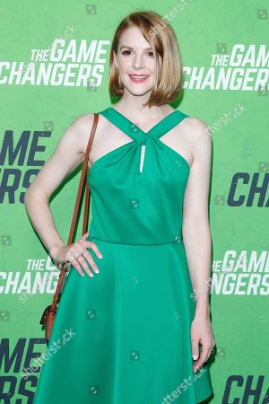 Ashley Bell arrives for the LA Premiere of 'The Game Changers' at ArcLight Hollywood in Los Angeles, California, USA, 04 September 2019. The movie opens in US theaters on 16 September 2019.