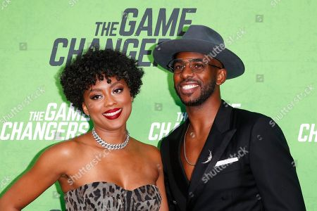 Jada Crawley and Chris Paul arrive for the LA Premiere of 'The Game Changers' at ArcLight Hollywood in Los Angeles, California, USA, 04 September 2019. The movie opens in US theaters on 16 September 2019.
