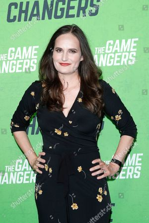 Gina Papabeis arrives for the LA Premiere of 'The Game Changers' at ArcLight Hollywood in Los Angeles, California, USA, 04 September 2019. The movie opens in US theaters on 16 September 2019.
