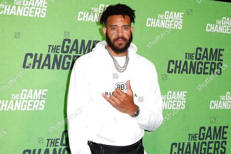 Stock Photo of JaVale McGee arrives for the LA Premiere of 'The Game Changers' at ArcLight Hollywood in Los Angeles, California, USA, 04 September 2019. The movie opens in US theaters on 16 September 2019.