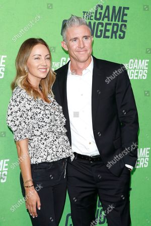 Jennifer Utley and Chase Utley at the LA Premiere of The Game Changers at ArcLight Hollywood in Los Angeles, California, USA 04 September 2019. The movie opens in the US 16 September 2019