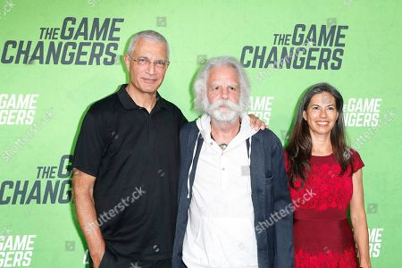 Louie Psihoyos, Bob Weir and Natascha Munter at the LA Premiere of The Game Changers at ArcLight Hollywood in Los Angeles, California, USA 04 September 2019. The movie opens in the US 16 September 2019.