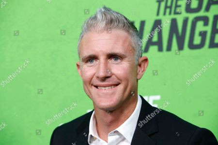 Chase Utley arrives for the LA Premiere of 'The Game Changers' at ArcLight Hollywood in Los Angeles, California, USA, 04 September 2019. The movie opens in US theaters on 16 September 2019.