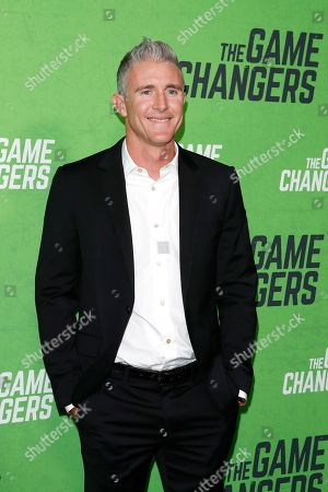 Stock Image of Chase Utley arrives for the LA Premiere of 'The Game Changers' at ArcLight Hollywood in Los Angeles, California, USA, 04 September 2019. The movie opens in US theaters on 16 September 2019.