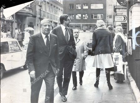 Politician - Sir Edward Heath 1975 Sir Edward Heath And His Pps Kenneth Baker Arrive For Persuasive Lunch. Yet Another Potential Challenger For The Tory Leadership Appeared On The Horizon Last Night. He Is Mr Maurice Macmillan Son Of The Revered 'supermac.' He Let It Be Known That He Was Considering Approaches To Stand In The Second Ballot If Mr Heath Fails To Triumph In The First On Tuesday. Nominations For That Closed Yesterday With Just Mr Heath Mrs Margaret Thatcher And Mr Hugh Fraser In The Lists. Both Mr Heath And Mrs Thatcher Claimed To Have Victory Within Their Grasp. ...politician