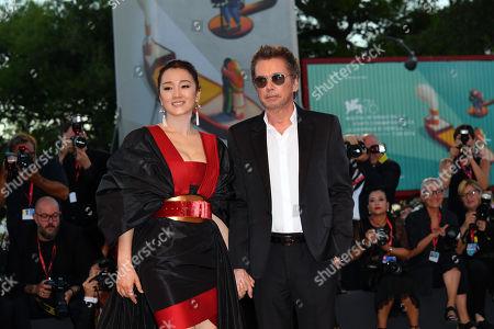 Stock Picture of Gong Li, Jean-Michel Jarre