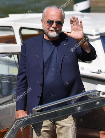 Aurelio De Laurentiis arrives at the Lido Beach for the 76th annual Venice International Film Festival, in Venice, Italy, 05 September 2019. The festival runs from 28 August to 07 September.