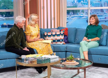 Phillip Schofield and Holly Willoughby with Fiona Bruce