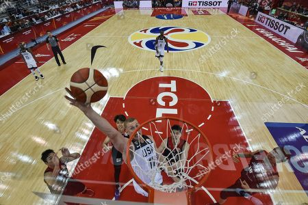 Stock Photo of Mason Plumlee of the US in action during the FIBA Basketball World Cup 2019 group E first ?round? match between USA and Japan in Shanghai, China, 05 September 2019.