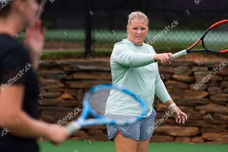 Retired tennis tour professional Melanie Oudin coaches youngsters at Windward Lake Club, in Alpharetta, Ga. A decade after her magical and memorable Grand Slam stay in New York, which followed a just-as-surprising run from qualifier to the fourth round at Wimbledon--like another American teen, Coco Gauff, did to much more fanfare this summer--Oudin is retired from the WTA tour, teaching kids the sport she loves and hoping to coach a pro one day